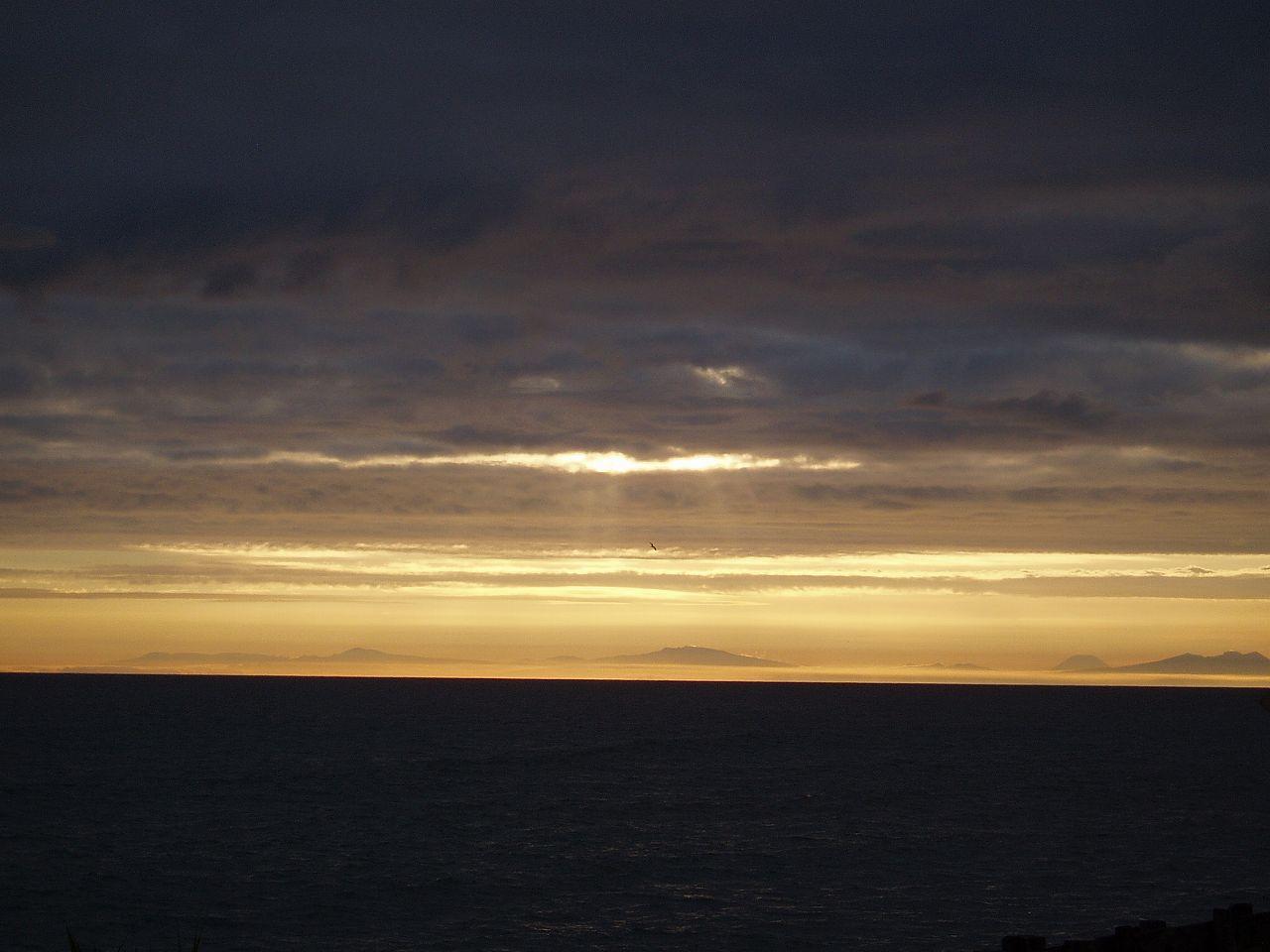 夕焼けの太平洋