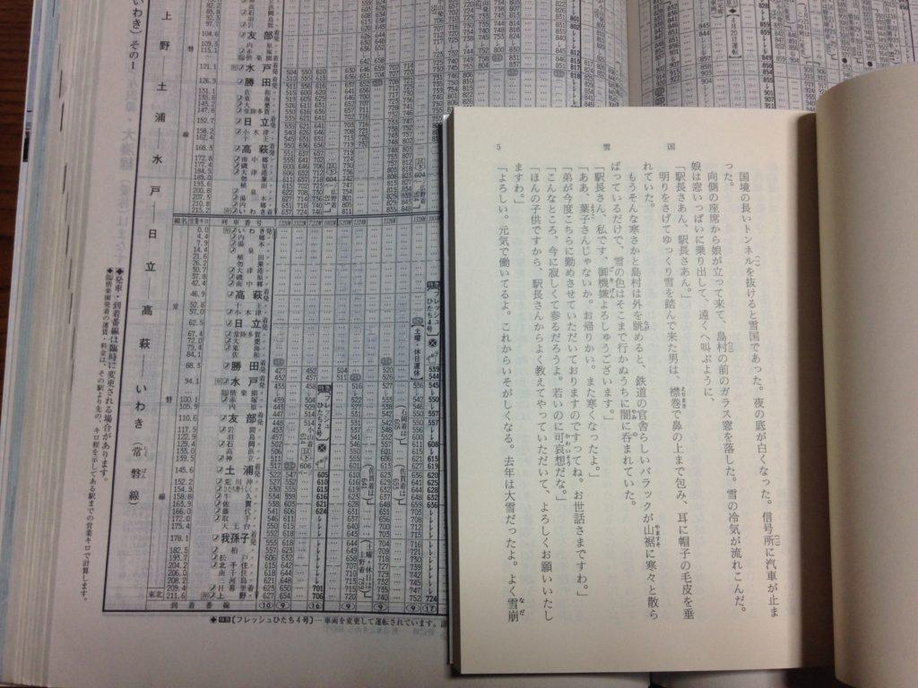 JTB時刻表の文字サイズ