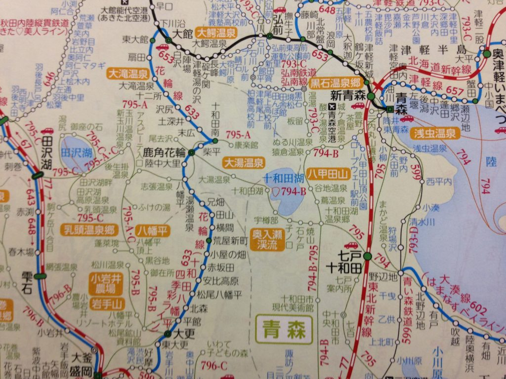 JTB時刻表-路線図