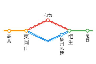 選択乗車-相生~東岡山間