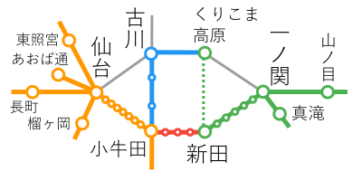 選択乗車-古川~くりこま高原間