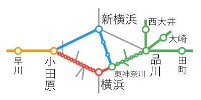 選択乗車-東神奈川~小田原間