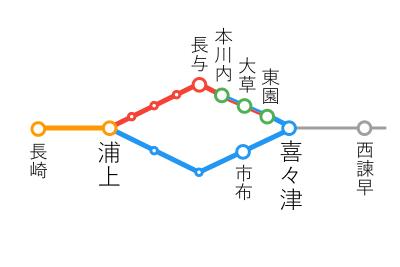選択乗車-本川内~浦上間
