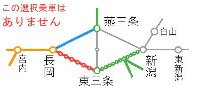 選択乗車-長岡~燕三条間