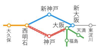 選択乗車-大阪~西明石間
