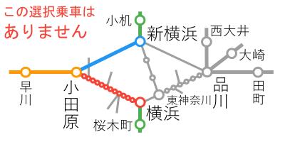 選択乗車-横浜~小田原間