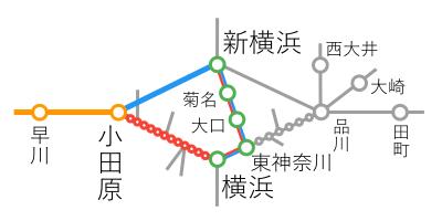 選択乗車-新横浜~小田原間