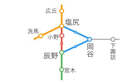 選択乗車-塩尻~辰野間