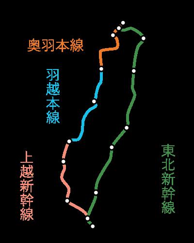 東京~青森間-一筆書き