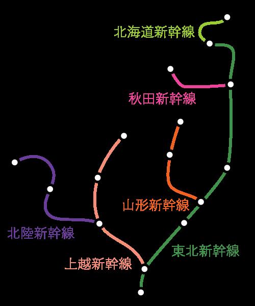 えきねっとトクだ値設定区間(新幹線)