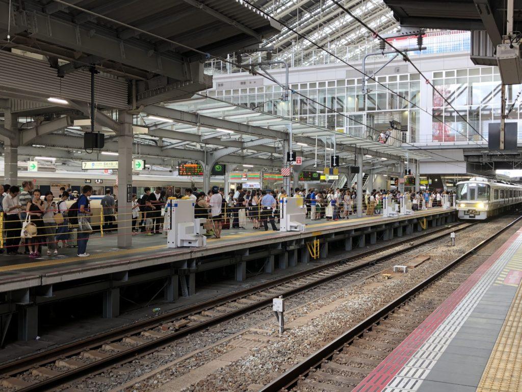 大阪駅-ホーム風景