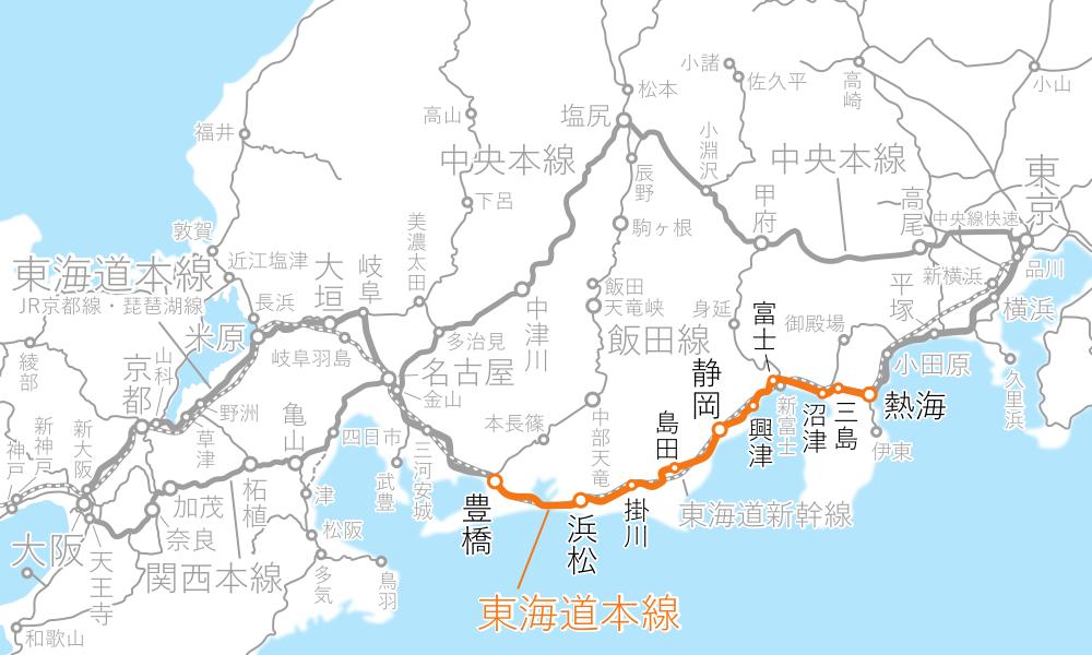 熱海~豊橋-路線図